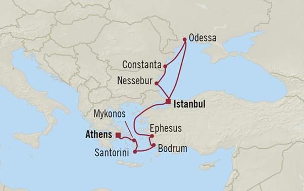 Black Sea Brillance Route Map
